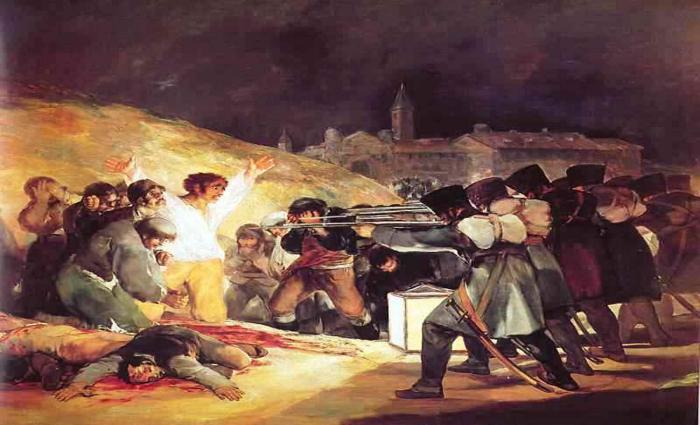 analysis of fransisco goyas the third Francisco goya was a talented spanish painter and printmaker, and is considered one of the last of the old masters of painting,  the third of may 1808.